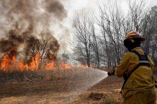 Córdoba: continúa el combate de un incendio forestal en Capilla del Monte