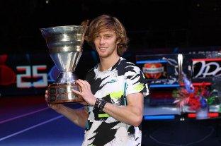 Rublev ganó el ATP 500 de San Petersburgo y superará a Schwartzman en el ranking