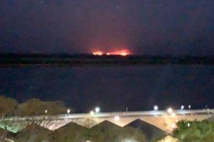 Imagen repetida y triste: volvieron los incendios frente a Rosario
