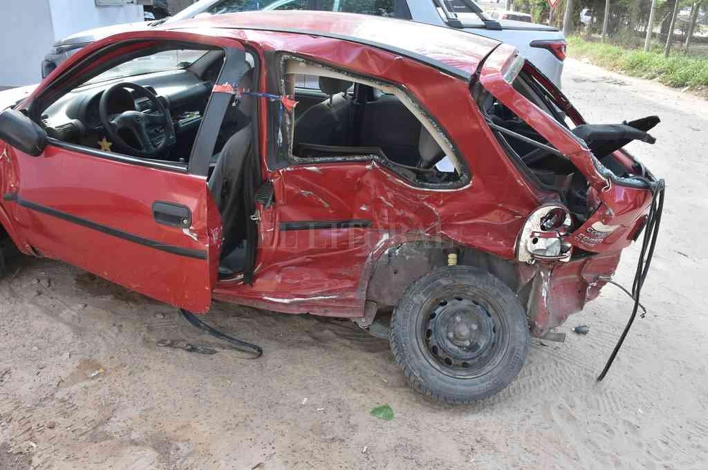 Matías Camussi, de 36 años, iba al volante de un Chevrolet Corsa Classic cuando fue embestido por un muchacho de 33 años. Crédito: Guillermo Di Salvatore