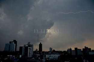 Nuevo alerta meteorológico a muy corto plazo para el departamento La Capital -  -