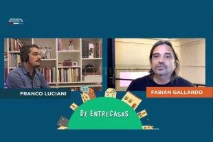 La música como lenguaje compartido - Luciani y Fabián Gallardo, en el primer envío del programa. -