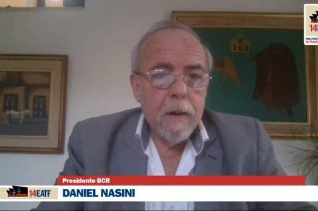 Daniel Nasini admitió la dureza del momento, no sólo por la pandemia, sino por la sequía y la bajante histórica del Paraná.  Foto: Gentileza BCR Foto:Gentileza: prensa BCR.