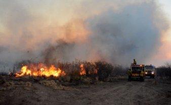 Controlan otros cuatro focos en San Luis y combaten el de las Sierras Centrales