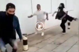 Video viral: batalla campal entre carniceros y veganos