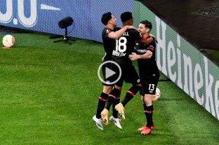 Alario convirtió en la goleada de Bayer Leverkusen sobre Niza en la Europa League