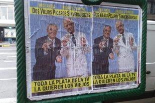 Aparecieron afiches contra Boca y River relacionados con su pelea con la AFA