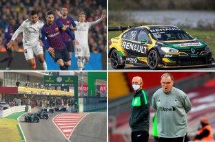 Horarios y TV: fin de semana de clásico español, MotoGP y Fórmula Uno