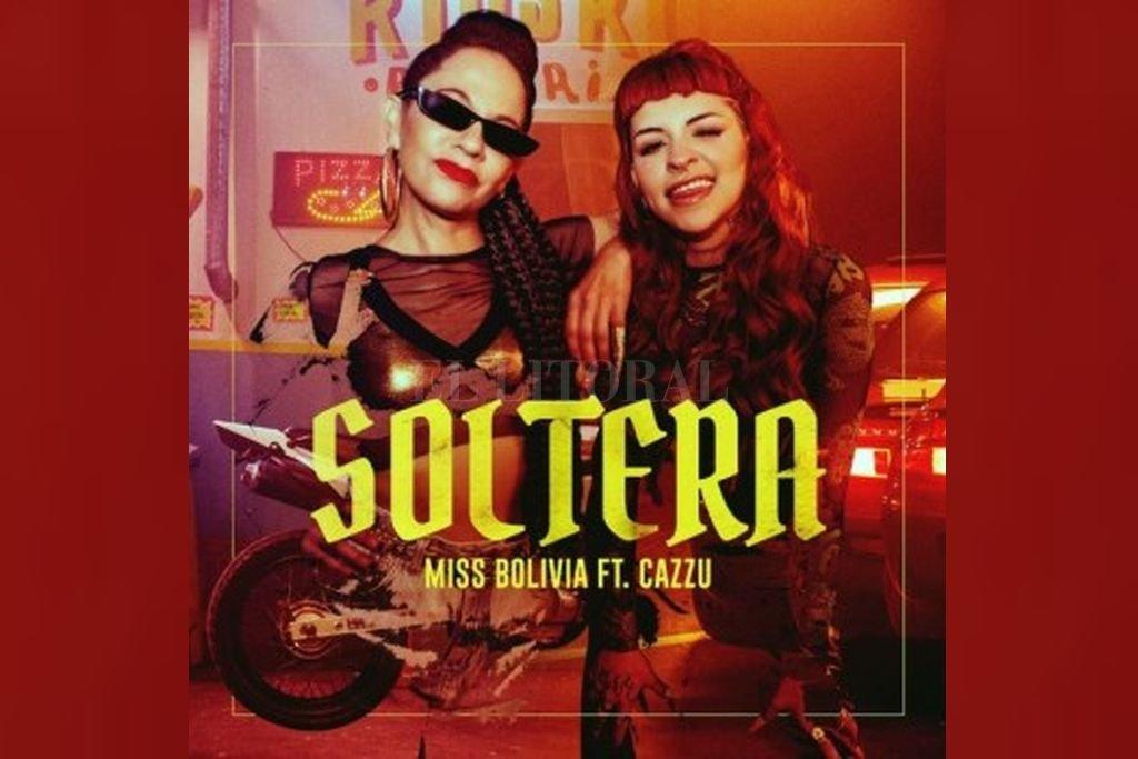 María Paz Ferreyra (Miss Bolivia) y Julieta Emilia Cazzucheli (Cazzu), en el arte de tapa a cargo de Molokid. Crédito: Gentileza Sony Music