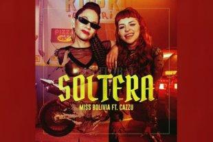 """Miss Bolivia lanza junto a Cazzu su nuevo tema """"Soltera"""" - María Paz Ferreyra (Miss Bolivia) y Julieta Emilia Cazzucheli (Cazzu), en el arte de tapa a cargo de Molokid. -"""