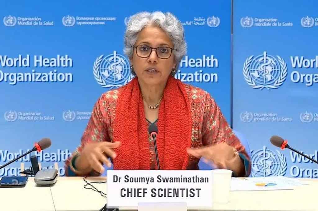 Soumya Swaminathan, científica en jefe de la OMS. Advirtió que hay que tener expectativas equilibradas respecto al éxito de los ensayos de los antivirus.    Crédito: Internet
