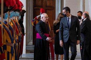 Francisco se reunió por primera vez con Pedro Sánchez en el Vaticano