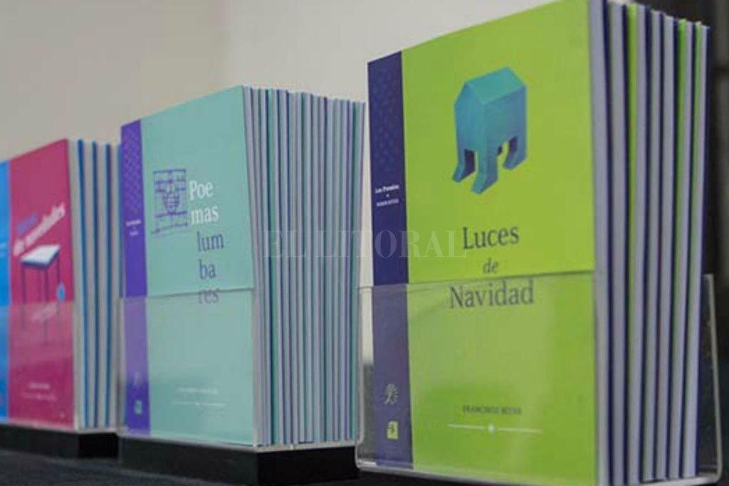 """""""Poemas lumbares"""" de Lisandro González, ganador en Poesía en 2013, y """"Luces de Navidad"""", de Francisco Bitar, distinguido en Narrativa en 2014. Crédito: Gentileza Ministerio de Cultura"""