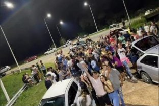 Fiesta clandestina multitudinaria en plena ruta -