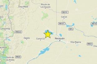 Se registró un sismo de 4.2 en Neuquén