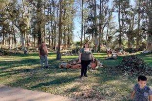 Vecinos de María Susana reconstruyen la localidad tras la tormenta -  -