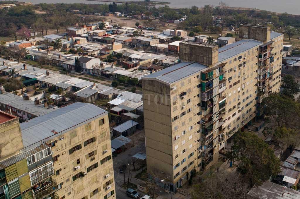El hecho se produjo en barrio El Pozo Crédito: Fernando Nicola (Drone)
