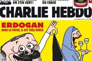 Charlie Hebdo desató la ira de Turquía con una caricatura Erdogan y otra mención a Mahoma