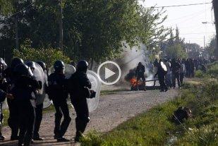 Impactantes fotos y videos del desalojo en Guernica -