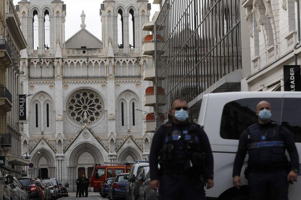 Atentado en Notre Dame de Niza Crédito: EFE