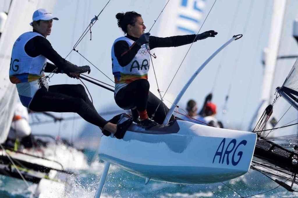 Santiago Lange y Cecilia Carranza Saroli quieren reeditar su máximo logro en Río 2016 y para eso trabajan pensando en Tokio 2021.    Crédito: Archivo