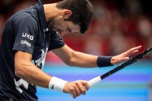 El serbio Novak Djokovic perdió ante Sonego en Viena, en su tercera derrota del año