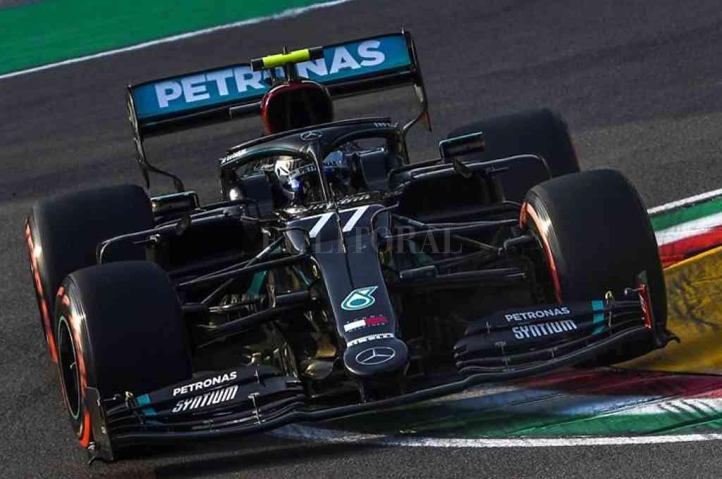 El Mercedes de Valtteri Bottas fue el más veloz en Imola. Crédito: Gentileza