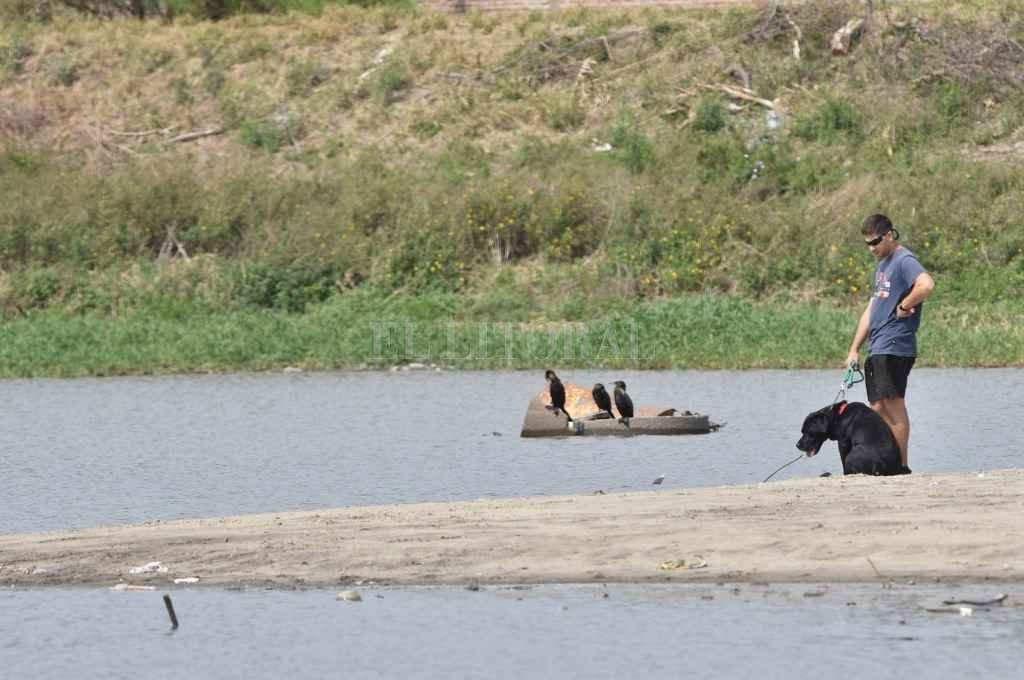 Laguna urbana. Llegar a orillas del espejo de agua es un paseo habitual de los santotomesinos.     Crédito: Flavio Raina