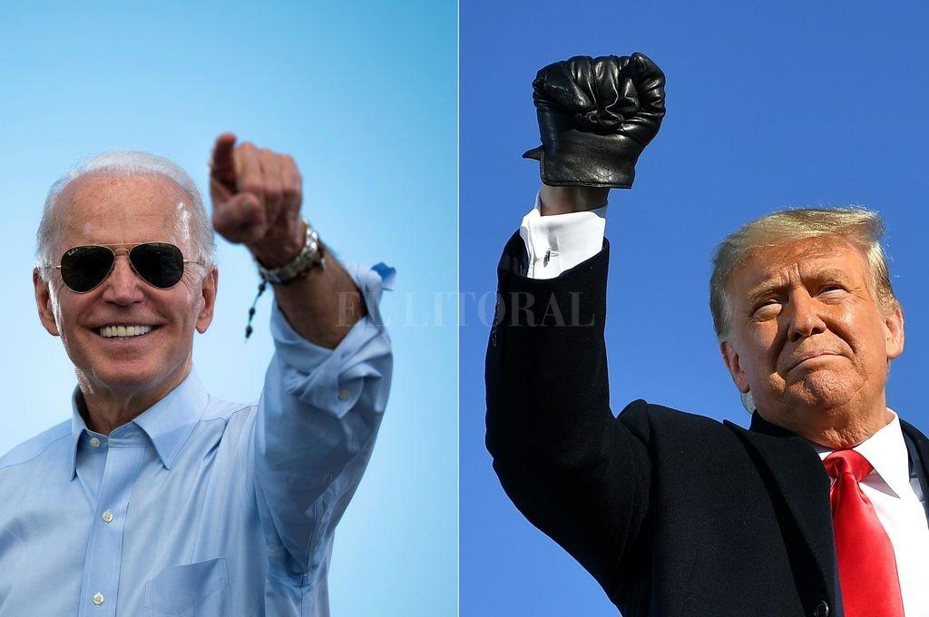 Joe Biden y Donald Trump Crédito: Télam
