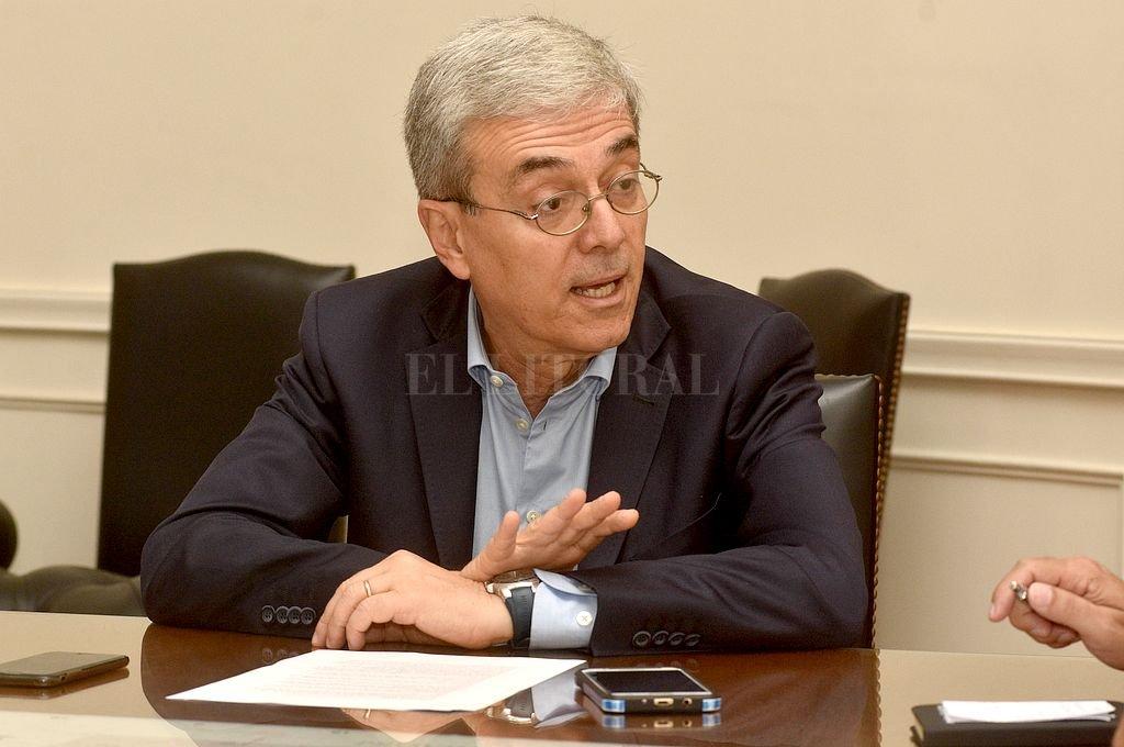 Walter Agosto, ministro de Economía de la provincia. Crédito: Guillermo Di Salvatore