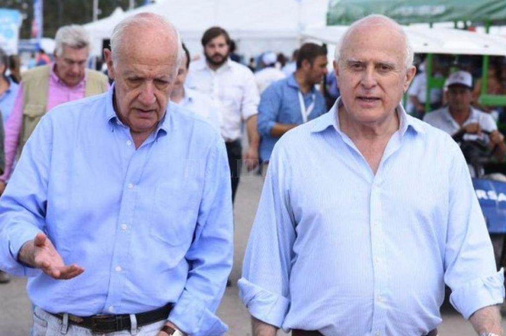 Roberto Lavagna y Miguel Lifschitz en una imagen de 2019 Crédito: Archivo El Litoral