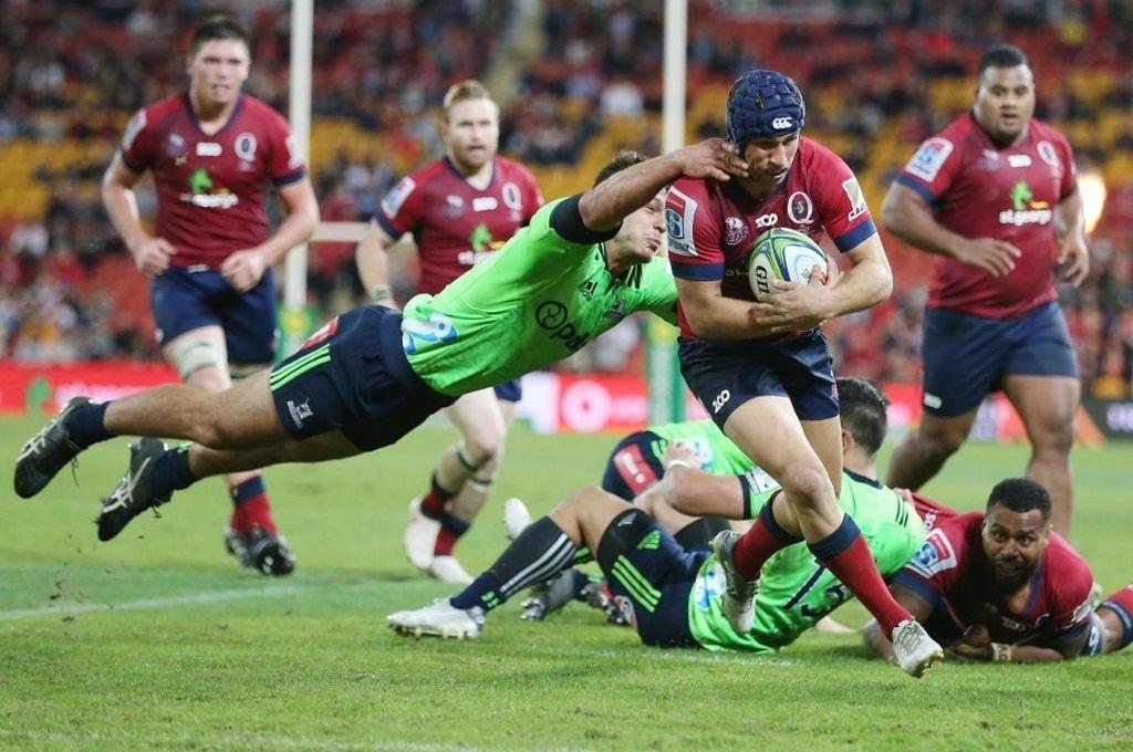 Imagen de un duelo entre Queensland Reds y Highlanders, en el otrora Super Rugby. Desde el año venidero, se reeditará en el nuevo Trans-Tasman. Crédito: Gentileza