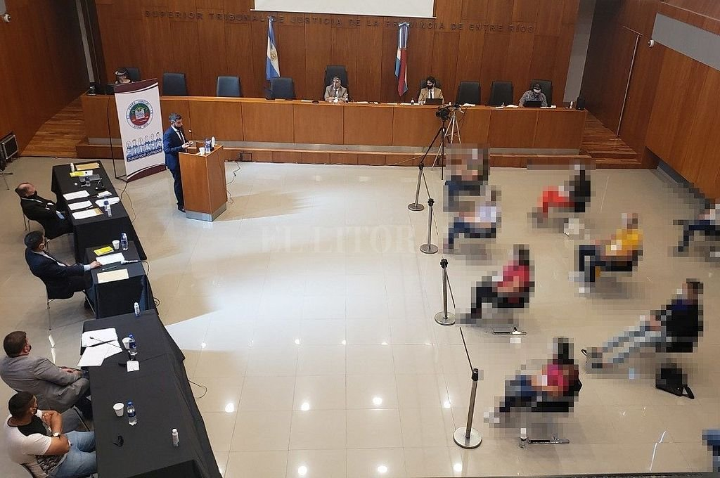 Audiencia desarrollada en el salón del Superior Tribunal de Justicia (Stjer) de Paraná. Crédito: @PoderJudicialER