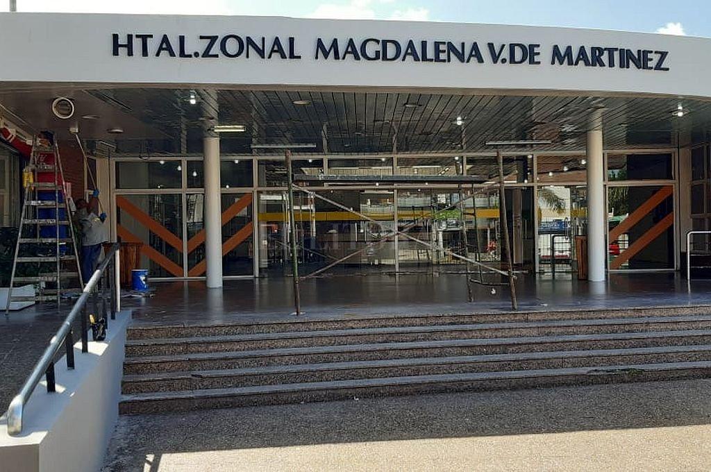 Daniel Lacanna fue trasladado al Hospital Magdalena Martínez, donde falleció. Crédito: Captura digital