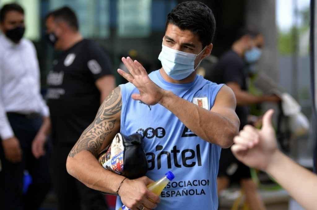 El seleccionado uruguayo sufre una baja sensible de último momento porque Luis Suárez contrajo coronavirus.    Crédito: Gentileza