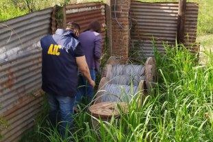 Detuvieron a seis personas por robos de cables