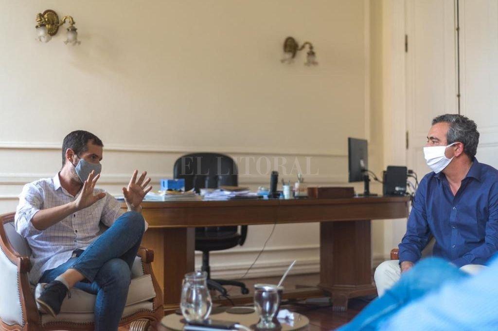 Franco Ponce de León con Pablo Javkin  Crédito: Gentileza
