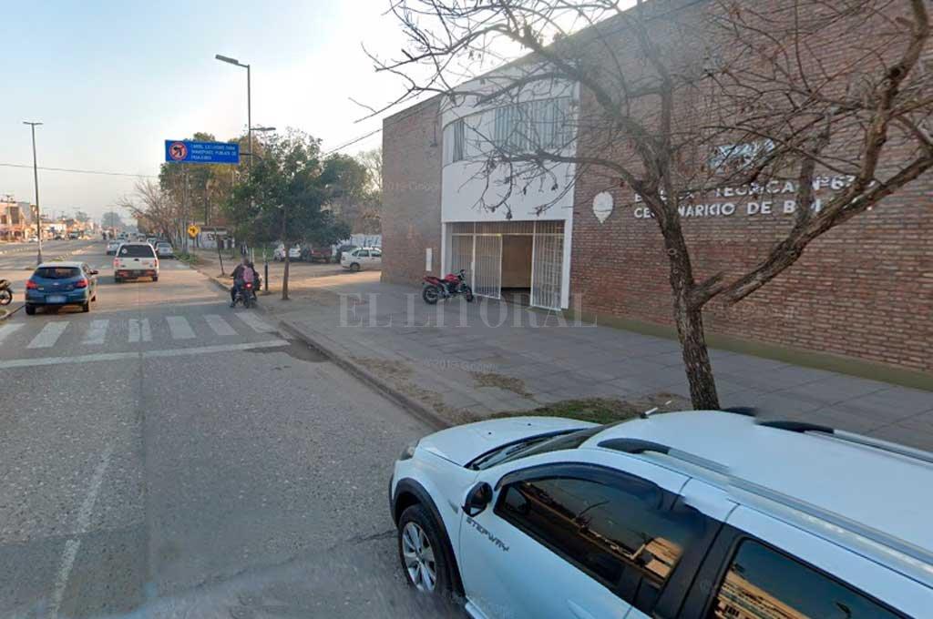 En dos días hubo dos intromisiones en la escuela ubicada sobre Av. Blas Parera al 7500 Crédito: Captura de Pantalla - Google Street View
