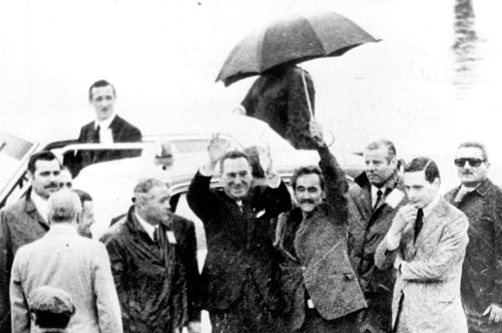 Perón llega a la Argentina después de diecisiete años de exilio. Crédito: Archivo