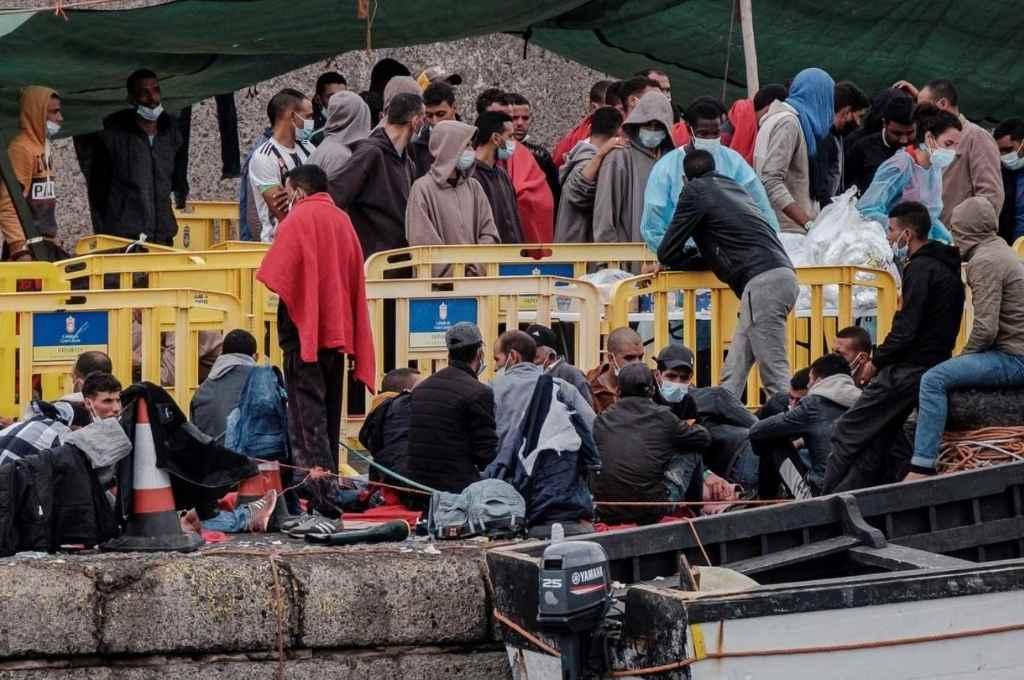 Las islas Canarias recibieron unas 12.000 personas desde septiembre último y más de 18.000 desde comienzo de año.    Crédito: Internet