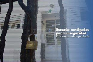 El lado oscuro de la pandemia: escuelas santafesinas castigadas por la inseguridad