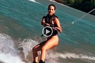 Video: el duro golpe de Flor Vigna mientras hacía esquí acuático