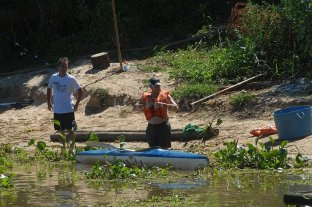 Convocan a kayakistas a limpiar el Riacho Santa Fe