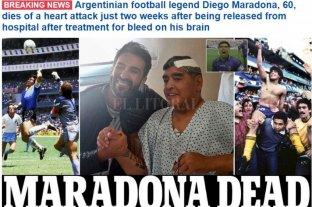 La prensa de todo el mundo despide a Diego Maradona