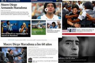 Los medios internacionales se hacen eco de la muerte de Diego Armando Maradona -  -