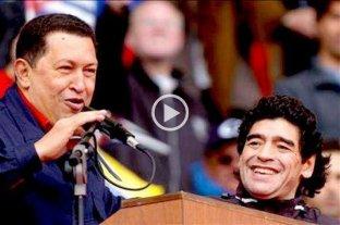 """El día que Diego acompañó a Hugo Chávez para """"echar"""" a George Bush"""