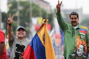 """Maduro expresó su pesar por la muerte de Maradona, un """"amigo incondicional"""" de Venezuela"""