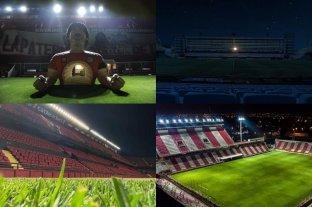 Los estadios se iluminaros en homenaje a Maradona