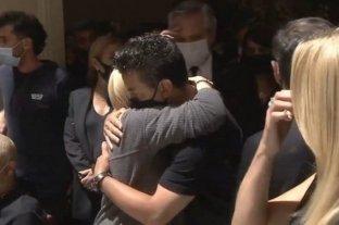 Gallardo despidió a Maradona en la Casa Rosada