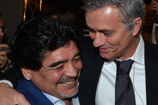 """""""Extrañaré las llamadas de Diego"""", lamentó el DT portugués Mourinho"""